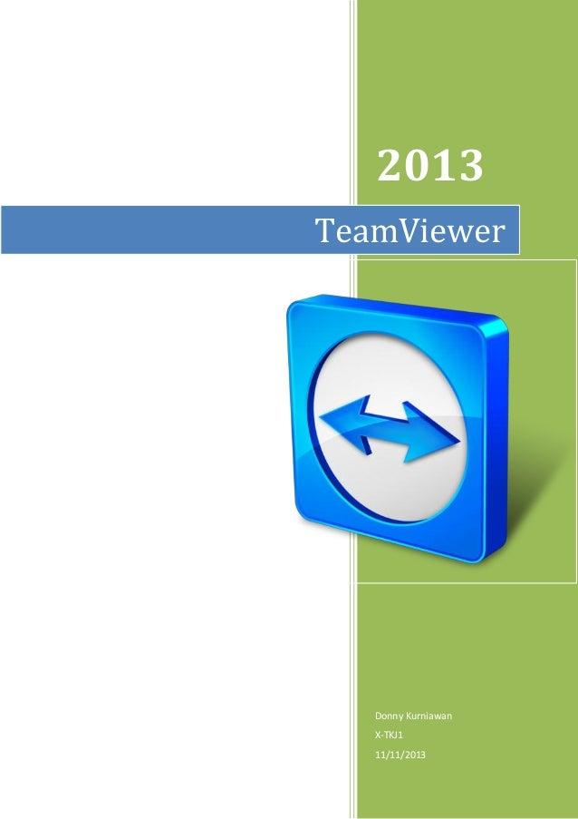 2013 Donny Kurniawan X-TKJ1 11/11/2013 TeamViewer