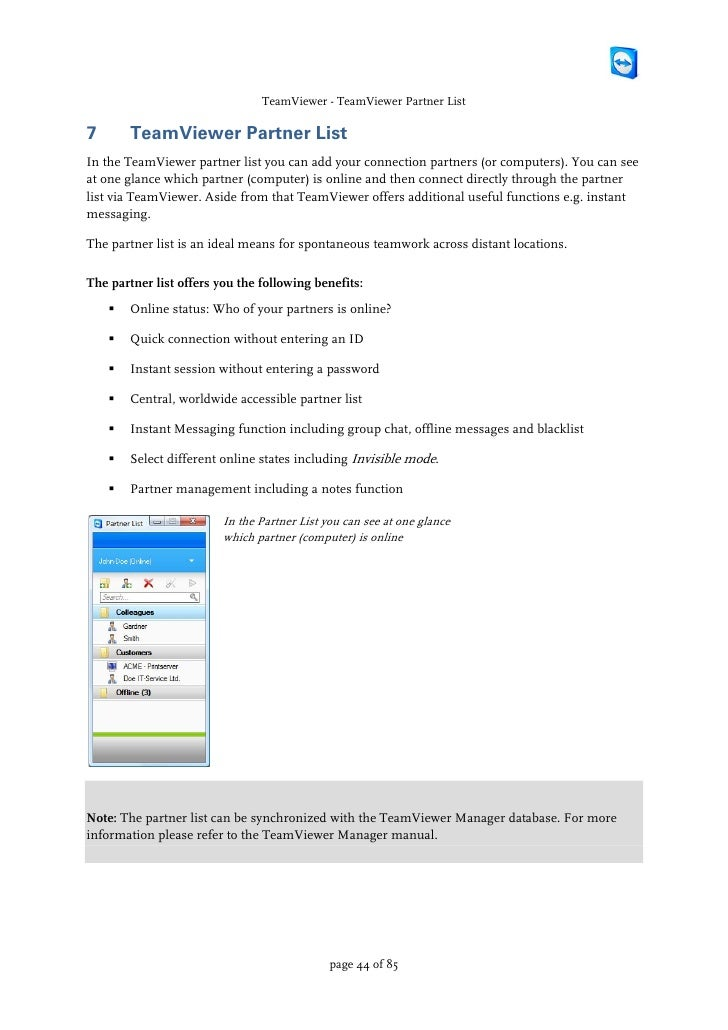 Teamviewer manual by PW