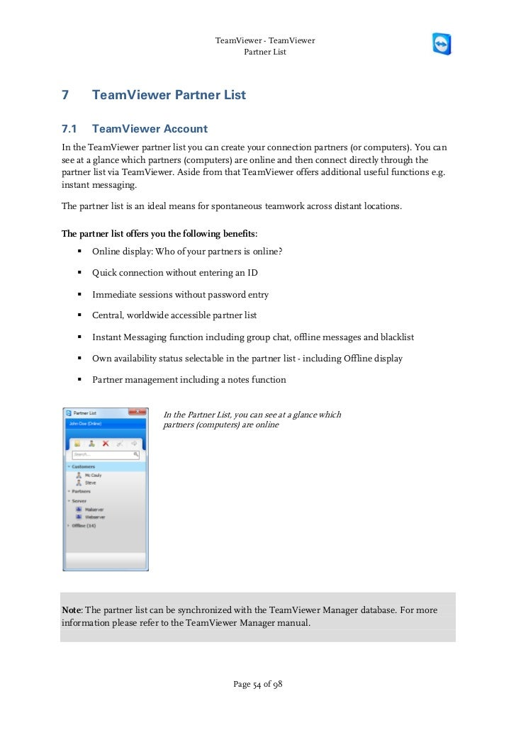 Teamviewer manual