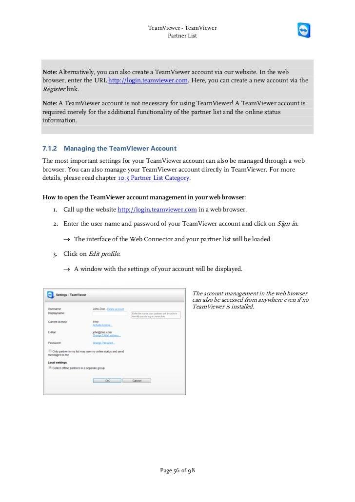 Teamviewer manual