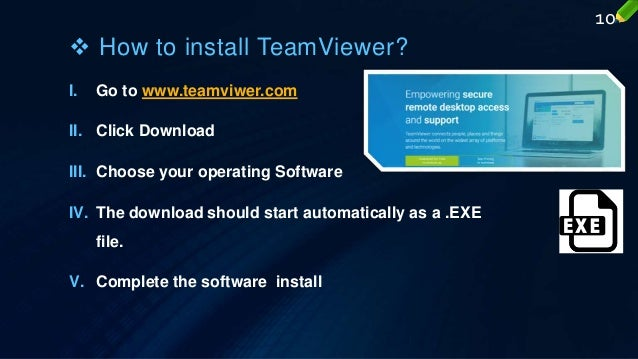 Team viewer, remote assistance made easy