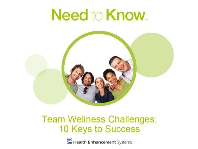 Team Wellness Challenges: 10Keys to Success