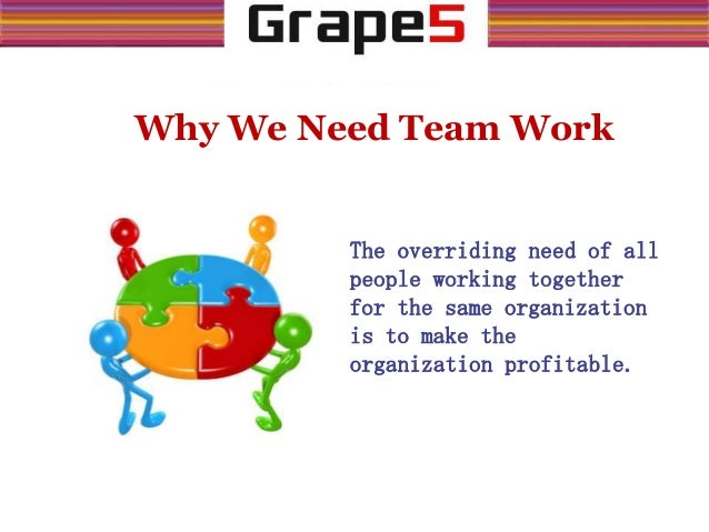 working as a team