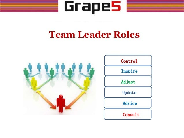 Team Leader Roles Control Adjust Inspire Consult Advice Update