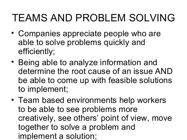 problem of teamwork Few companies can match the vast resources of ibm when it comes to problem  solving, and big blue now uses many of those assets outside.