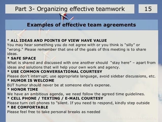 organizing effective team work