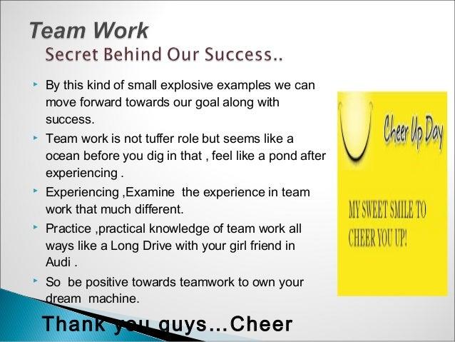 example of effective teamwork