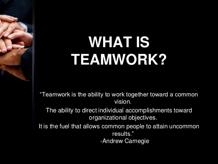 good teamwork
