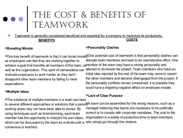 importance of teamwork pdf