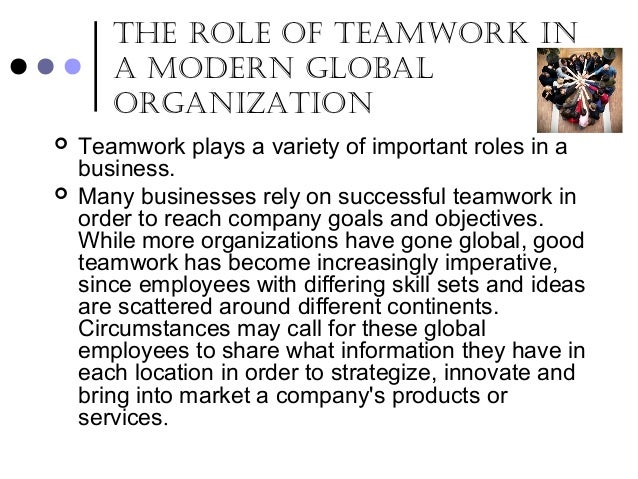 the importance of teamwork in business 2 Importance of teamwork - this article explores the continuing discussion about the importance of teamwork, an important concept for successful organisations achieving high individual and team performance - explores lessons learnt from examples of individual and team performance.