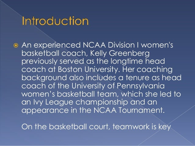 Teamwork and the Basketball Coach Slide 2