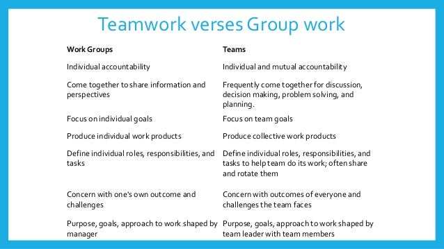 difference between group work and individual work