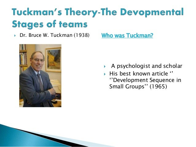 bruce tuckman theoy Visit amazoncouk's bruce w tuckman page and shop for all bruce w tuckman books check out pictures, bibliography, and biography of bruce w tuckman.