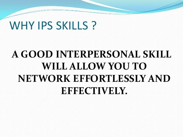 what are good interpersonal skills