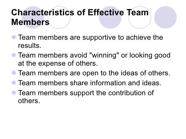 good examples of teamwork