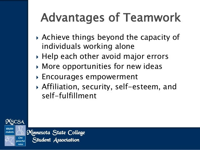 teamwork vs working independently Individual work can be definitely tempting at times although working alone has a  whole lot of benefits, teamwork is proved to be the absolute winner.