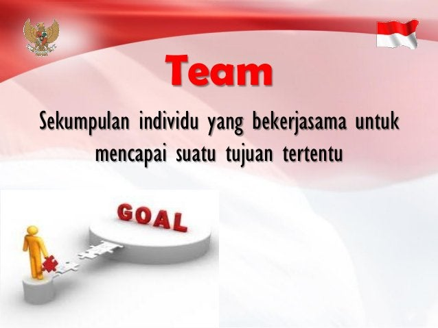 Sekumpulan individu yang bekerjasama untuk mencapai suatu tujuan tertentu Team