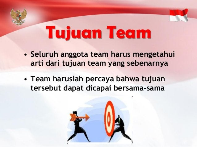 •Seluruh anggota team harus mengetahui arti dari tujuan team yang sebenarnya  •Team haruslahpercaya bahwa tujuan tersebut ...