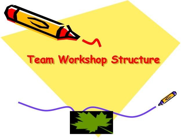 Team Workshop Structure