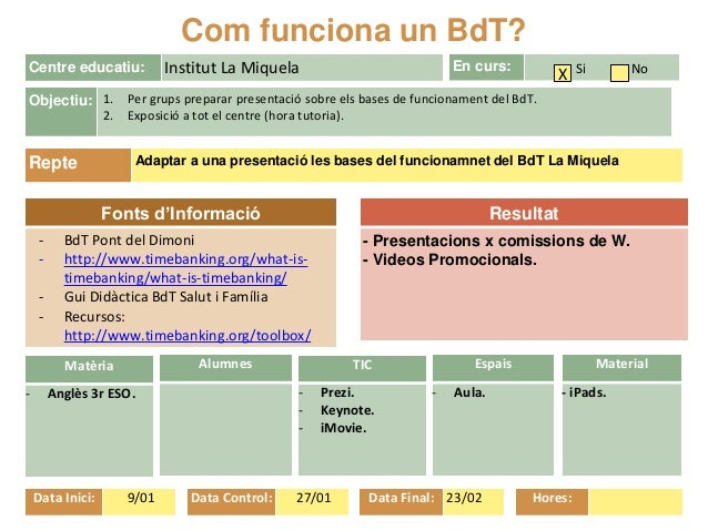 Resultat - Presentacions x comissions de W. - Videos Promocionals. Fonts d'Informació - BdT Pont del Dimoni - http://www.t...