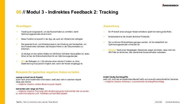 06 // Modul 3 - Indirektes Feedback 2: Tracking Grundlagen ■ Tracking wird angewandt, um das Nutzverhalten zu ermitteln, d...