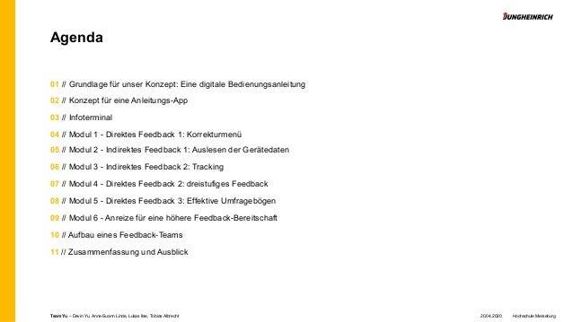 Agenda 01 // Grundlage für unser Konzept: Eine digitale Bedienungsanleitung 02 // Konzept für eine Anleitungs-App 03 // In...