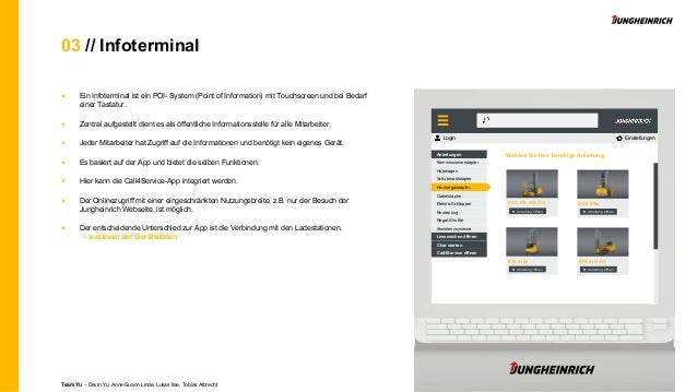 03 // Infoterminal ■ Ein Infoterminal ist ein POI- System (Point of Information) mit Touchscreen und bei Bedarf einer Tast...