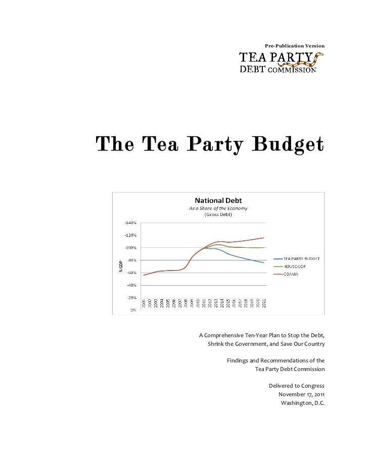 Pre-Publication Version       	         	         	  The Tea Party Budget       	         	         	         	           ...