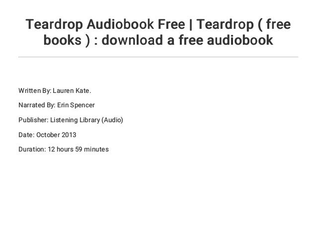 Pdf teardrop lauren kate
