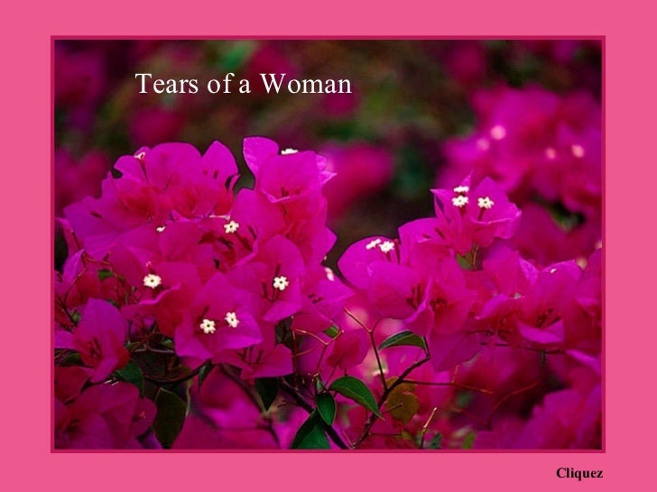 Cliquez Tears of a Woman