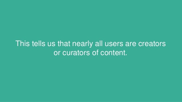 This tells us that nearly all users are creators or curators of content.