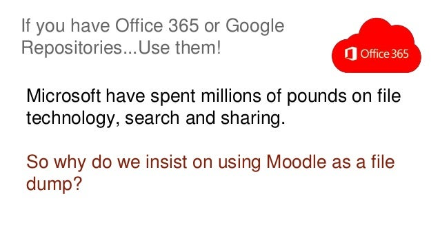 If you have Office 365 or Google Repositories...Use them! Microsoft have spent millions of pounds on file technology, sear...