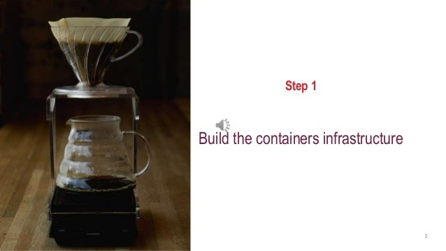 axway.com 2 Step 1 Build the containers infrastructure