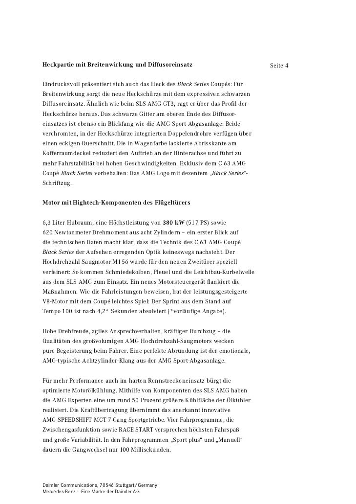 Heckpartie mit Breitenwirkung und Diffusoreinsatz                            Seite 4Eindrucksvoll präsentiert sich auch da...