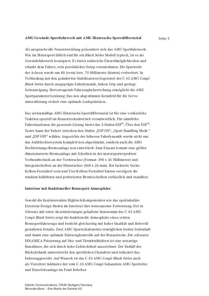 AMG Gewinde-Sportfahrwerk mit AMG Hinterachs-Sperrdifferenzial                  Seite 5Als anspruchvolle Neuentwicklung pr...