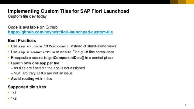 Implementing Custom Tiles for SAP Fiori launchpad