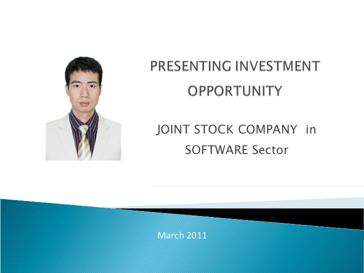 JOINT STOCK COMPANY  in SOFTWARE Sector March 2011