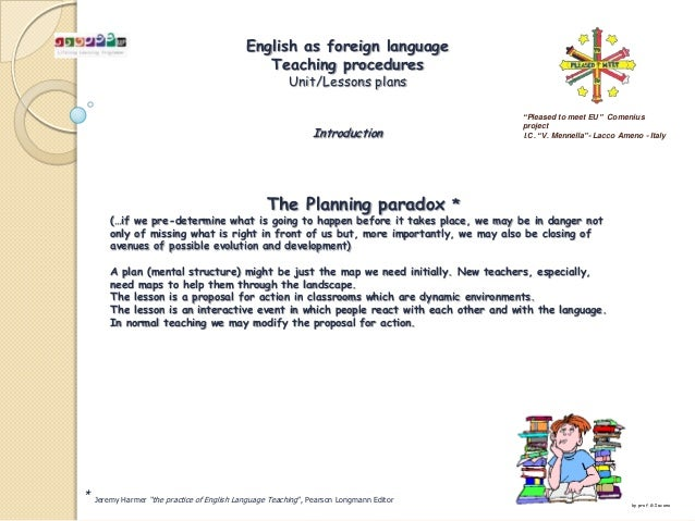 English as foreign language                                               Teaching procedures                             ...