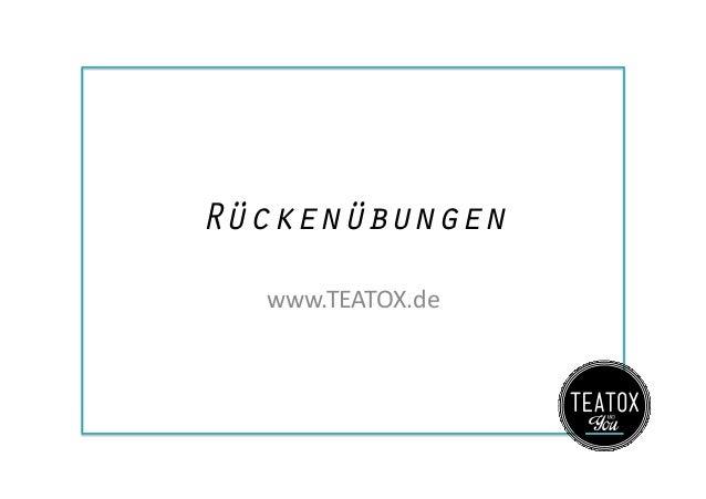 Rückenübungen www.TEATOX.de