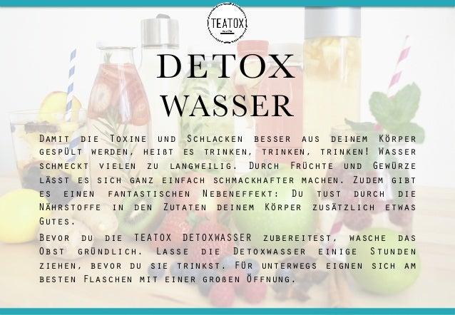 DETOX WASSER Damit die Toxine und Schlacken besser aus deinem Körper gespült werden, heißt es trinken, trinken, trinken! W...