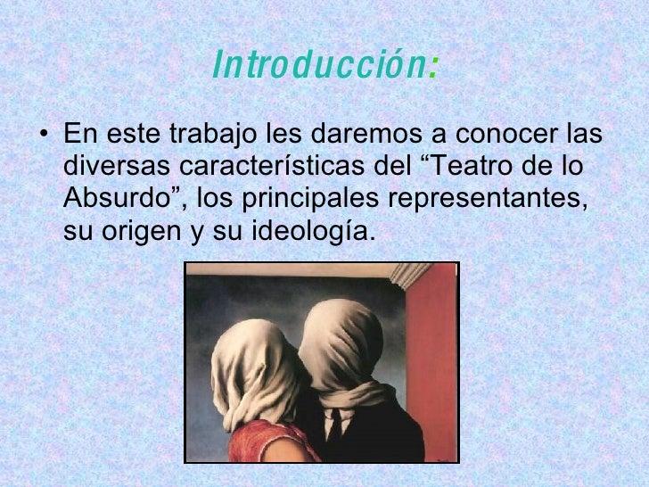 Teatro Absurdo Original Slide 2