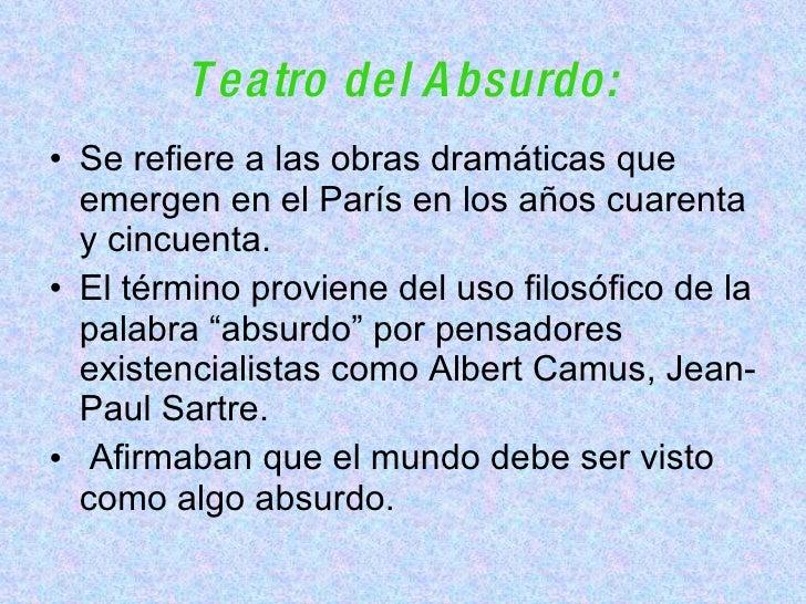Teatro Absurdo Original Slide 3