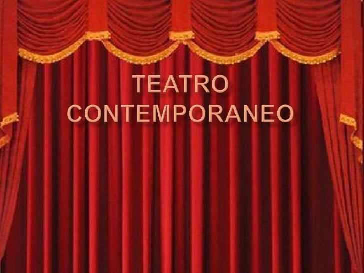 Teatro contemporaneo y semejantes for Que significa contemporaneo wikipedia