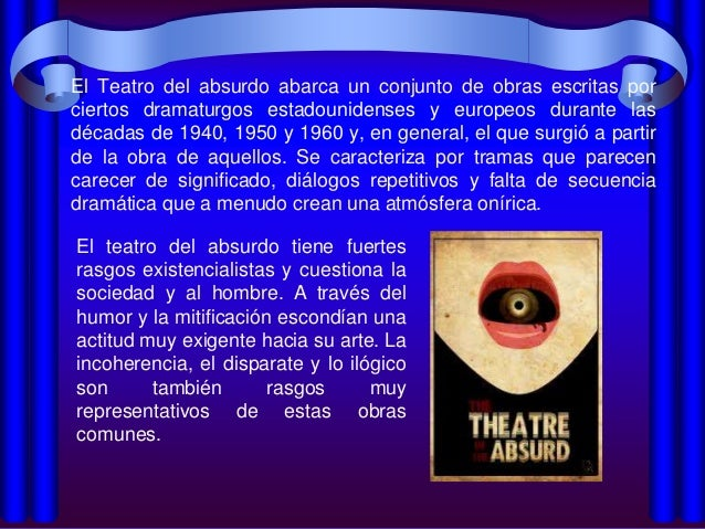Teatro del absurdo Slide 2