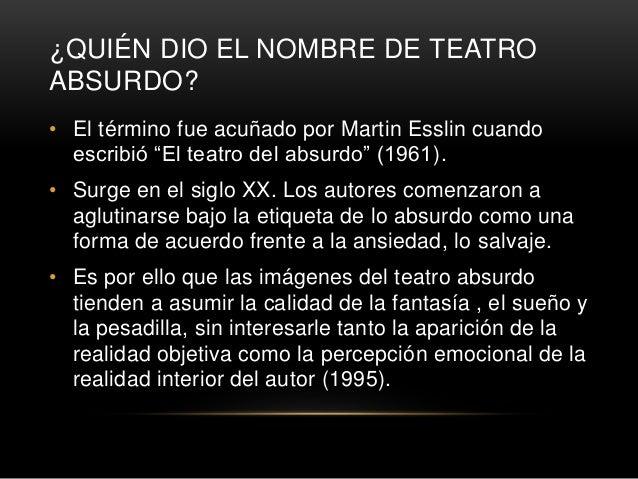 PRINCIPALES AUTORES • Entre los principales dramaturgos del teatro del absurdo se cuentan René Marques, Alfred Jarry, Anto...