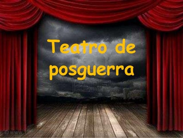 Teatro deposguerra