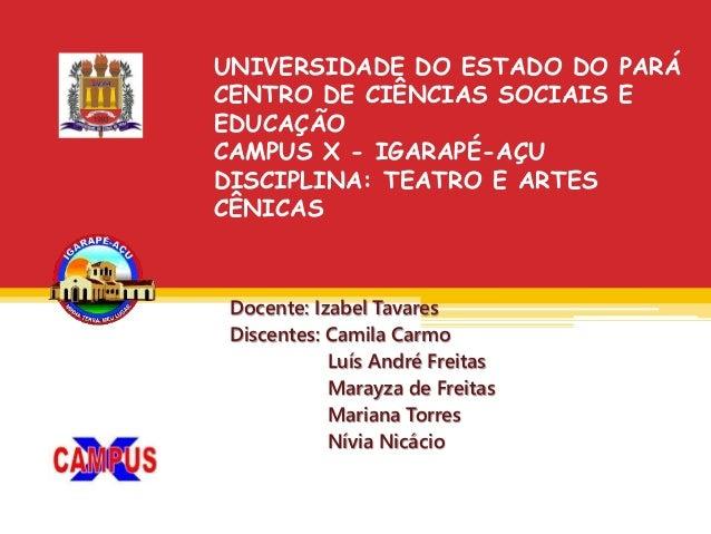 Docente: Izabel Tavares Discentes: Camila Carmo Luís André Freitas Marayza de Freitas Mariana Torres Nívia Nicácio UNIVERS...