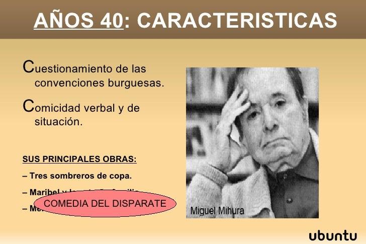 AÑOS 40 :  CARACTERISTICAS <ul><li>C uestionamiento de las convenciones burguesas.