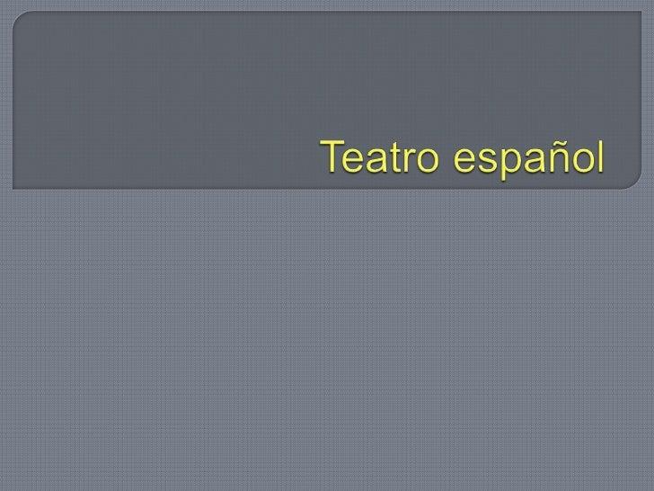 Teatro español <br />