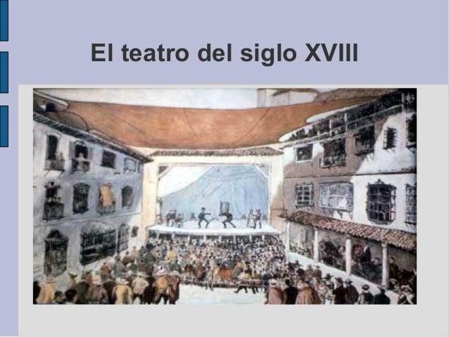 El teatro del siglo XVIII